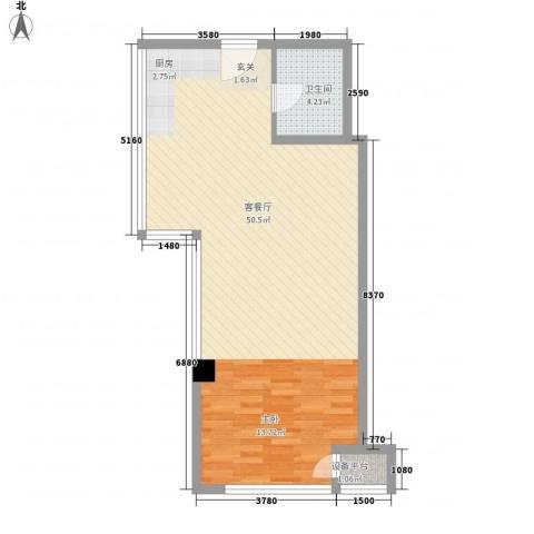 丰臣国际广场1厅1卫0厨77.00㎡户型图