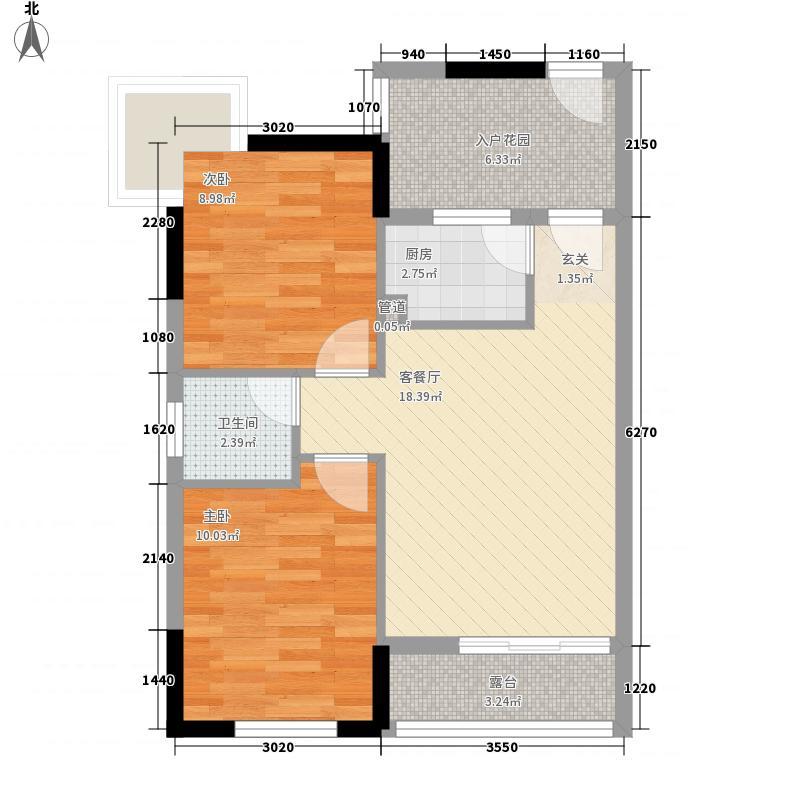 美丽湾国际公寓62.00㎡户型