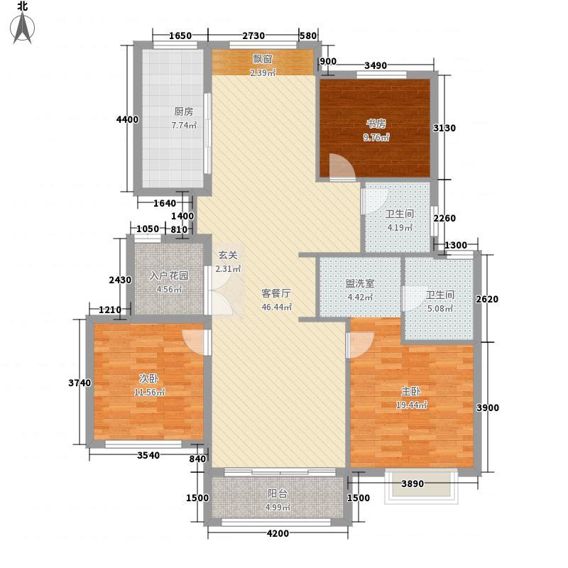 西西里传说138.80㎡A1户型3室2厅2卫1厨