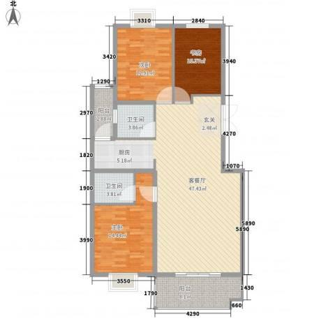 金邸山庄3室1厅2卫0厨145.00㎡户型图