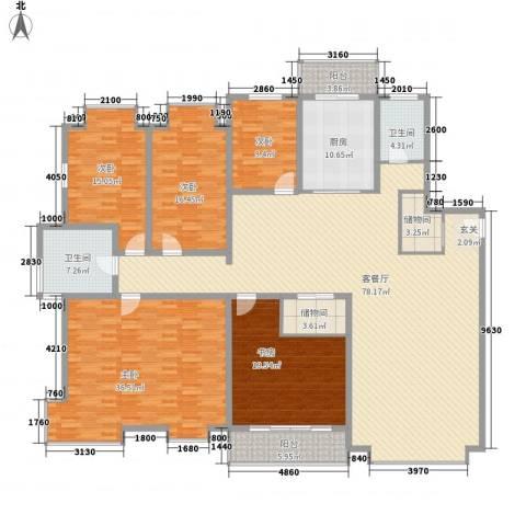 裕丰家园5室1厅2卫1厨214.00㎡户型图