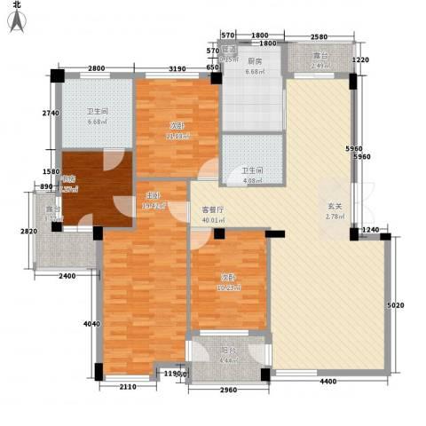 华夏海景4室1厅2卫1厨166.00㎡户型图