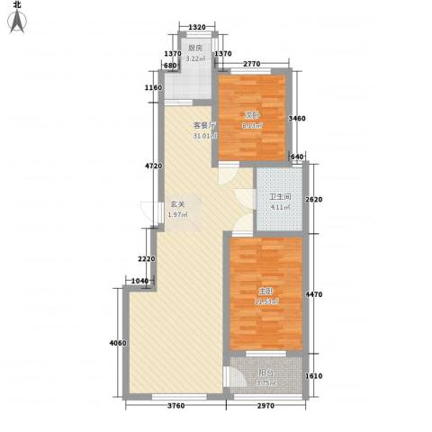古耕景和园2室1厅1卫1厨89.00㎡户型图