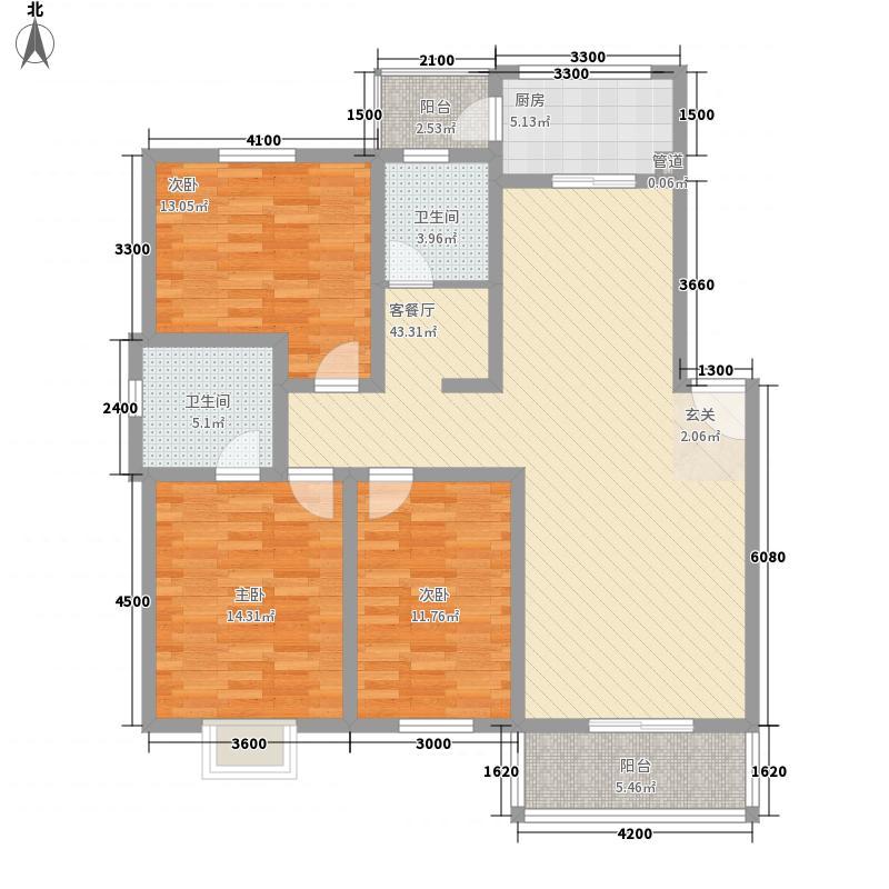 怡华香缇丽舍12.00㎡K户型3室2厅2卫1厨
