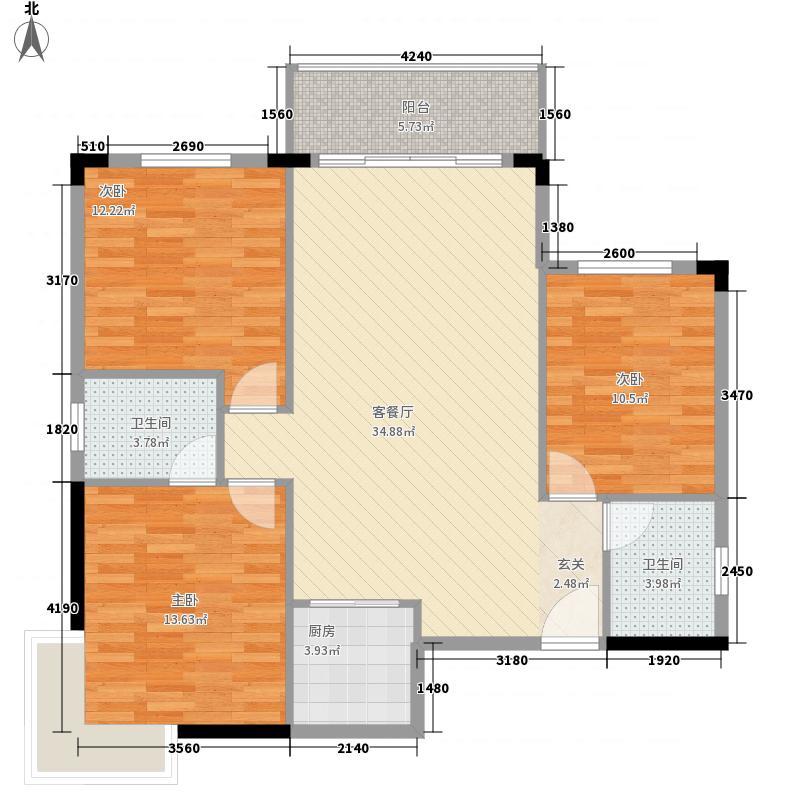 鑫龙花园户型3室