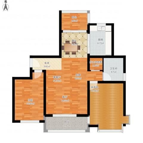 成亿宝盛家苑北块1室1厅1卫1厨124.00㎡户型图