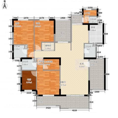 水晶森林4室1厅4卫1厨189.00㎡户型图