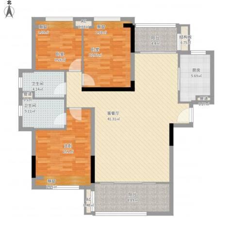 怡翠花园1室1厅2卫1厨154.00㎡户型图