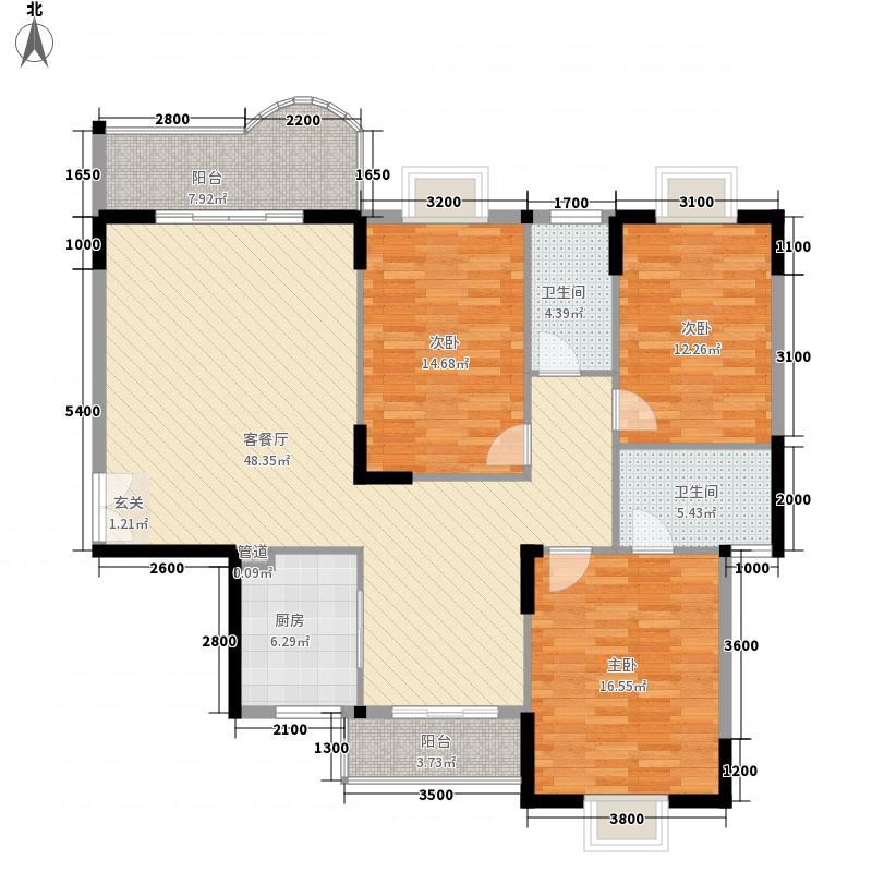 东森华庭143.70㎡户型3室
