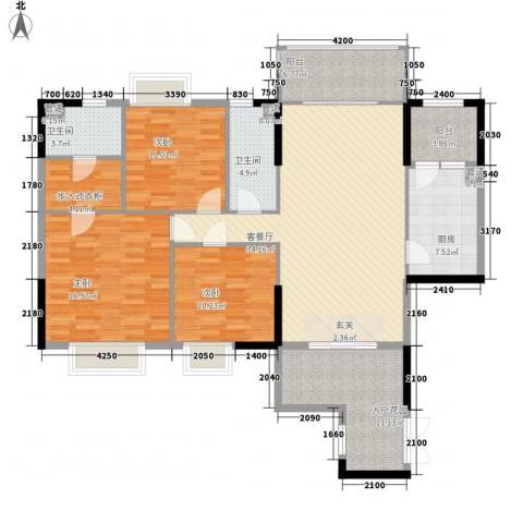 荔园悦享星醍3室1厅2卫1厨114.78㎡户型图