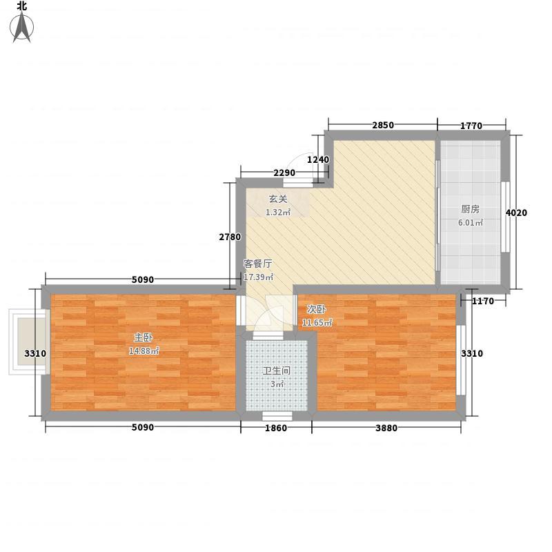双山小区户型2室1厅