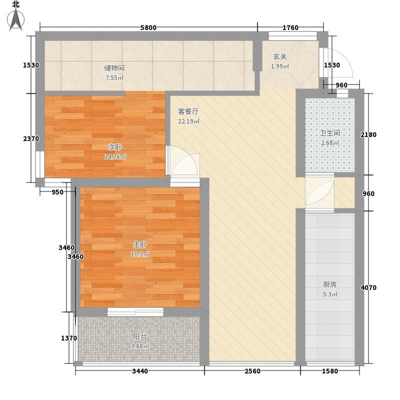 二条巷86.00㎡7号小区户型2室