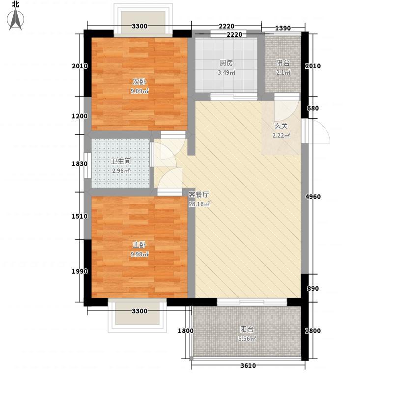 幸福园小区户型2室
