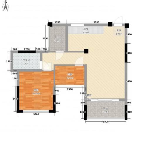 新开苑2室1厅1卫0厨94.00㎡户型图