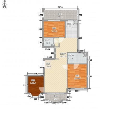 荣耀上城3室1厅2卫0厨104.00㎡户型图