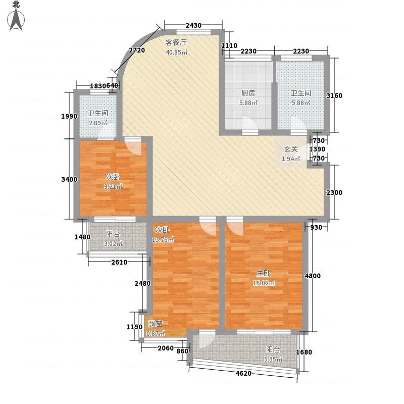 古运河小区户型图3室2厅2卫1厨