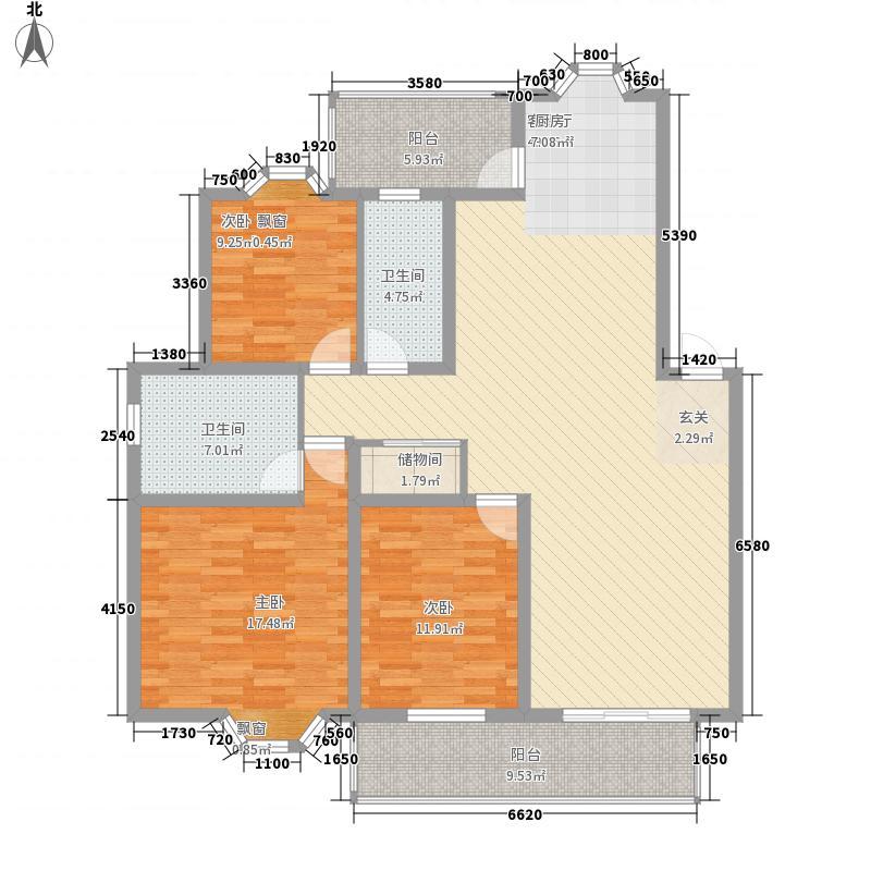 静怡家园5.51㎡1910106039户型3室2厅2卫1厨