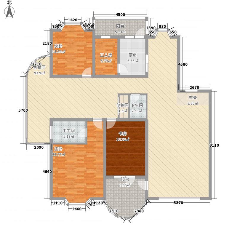 静怡家园146.52㎡户型3室1厅2卫1厨