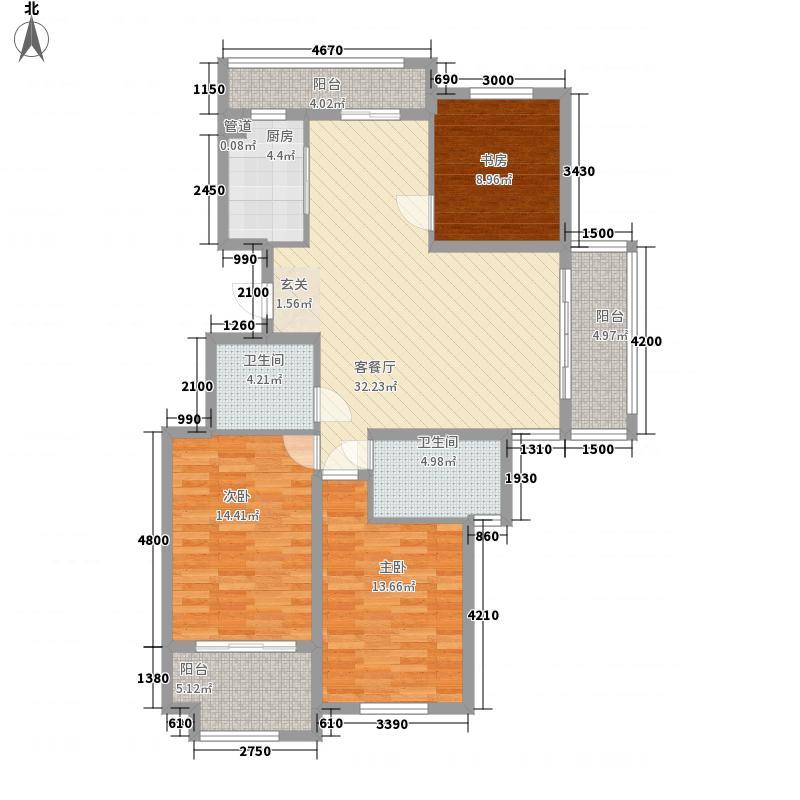 东冠繁华逸城123.70㎡东冠繁华逸城户型图四期J户型3室2厅2卫1厨户型3室2厅2卫1厨
