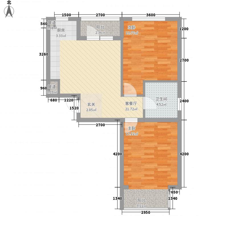 泉水润泽园81.19㎡泉水润泽园户型图A28号楼G户型2室2厅1卫1厨户型2室2厅1卫1厨
