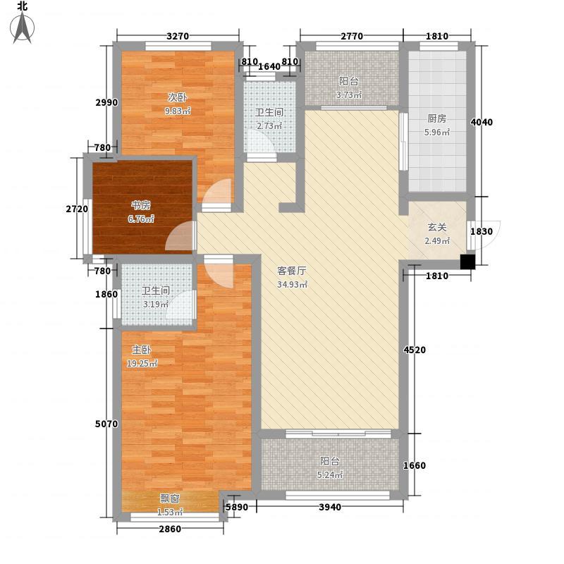 泉景天沅仁园132.00㎡2号楼2单元A3-1户型3室2厅2卫1厨