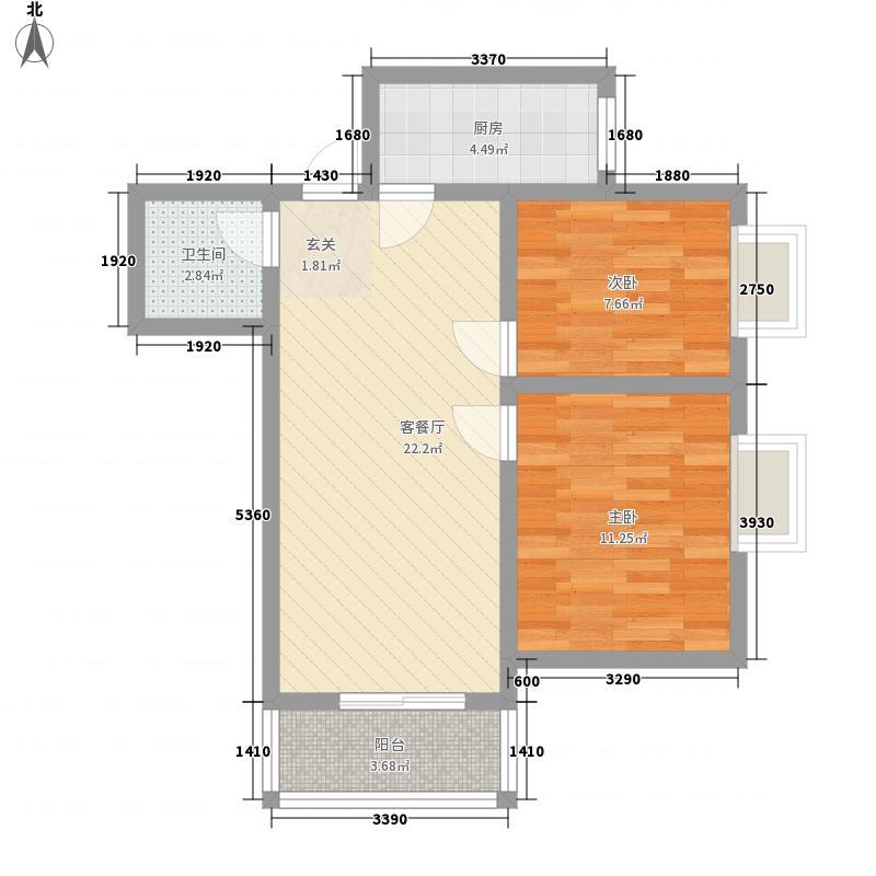 世秀76.00㎡小区户型2室