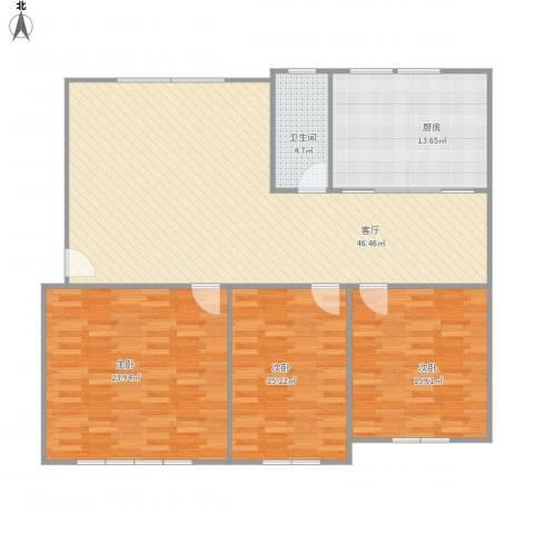 振华苑3室1厅1卫1厨158.00㎡户型图