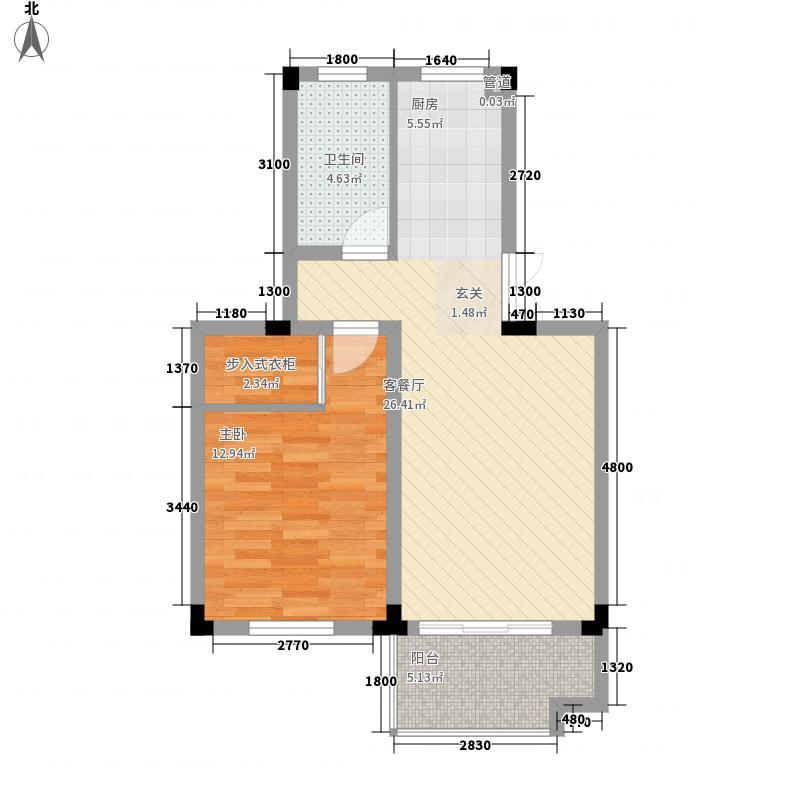 文昌苑1室1厅1卫0厨64.00㎡户型图