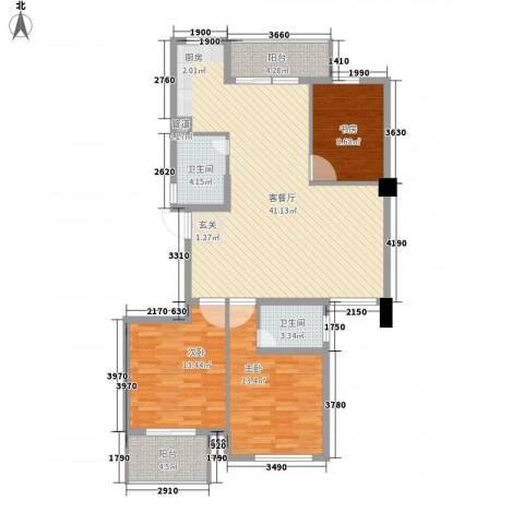 柳岸晨韵3室1厅2卫0厨131.00㎡户型图