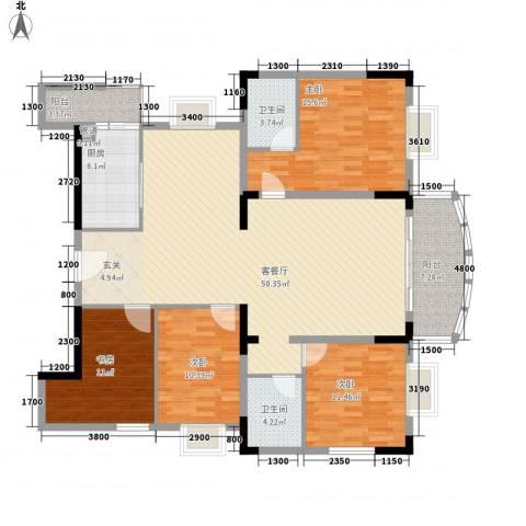 名苑山庄4室1厅2卫1厨174.00㎡户型图
