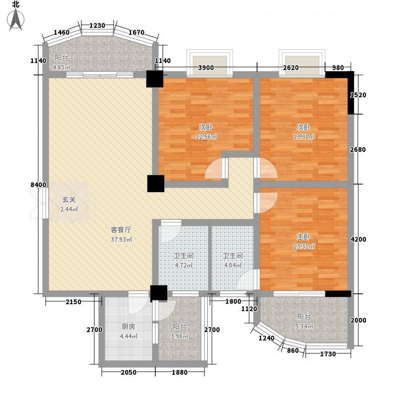 �明家园三阳户型3室2厅2卫1厨