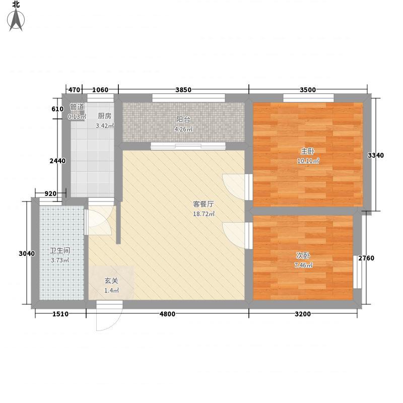 阳光御湖苑7.00㎡2号楼C户型2室2厅1卫1厨