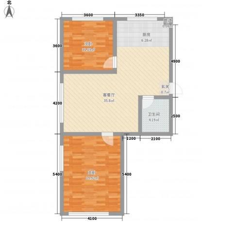 汇景星城2室1厅1卫0厨71.26㎡户型图