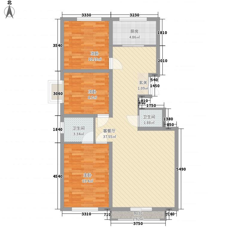 万科惠斯勒小镇万科惠勒斯小镇户型3室2厅1卫1厨