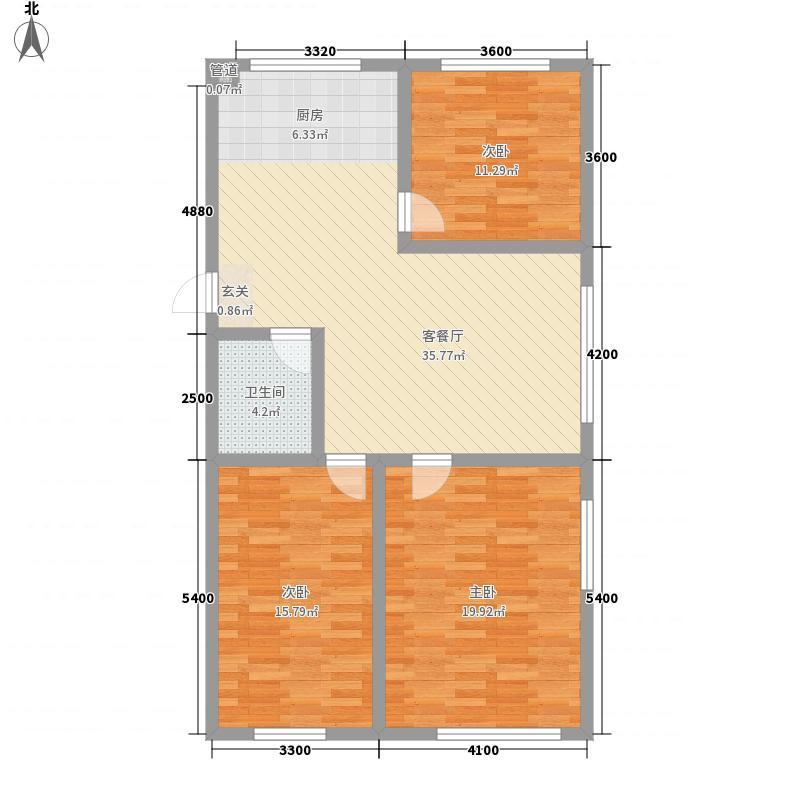 汇景星城121.47㎡2户型3室2厅2卫