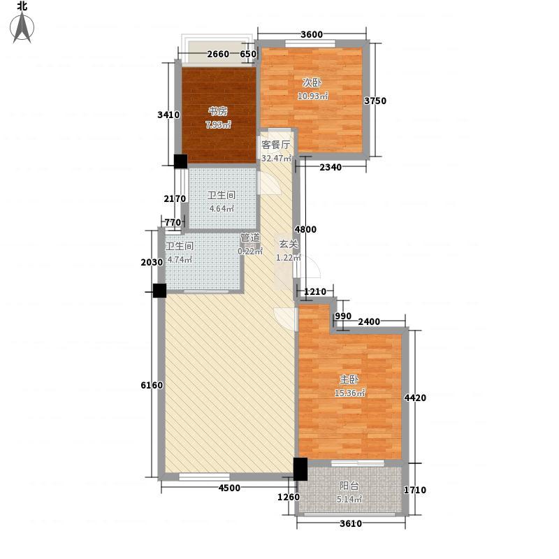 香悦花苑3室1厅2卫0厨114.00㎡户型图