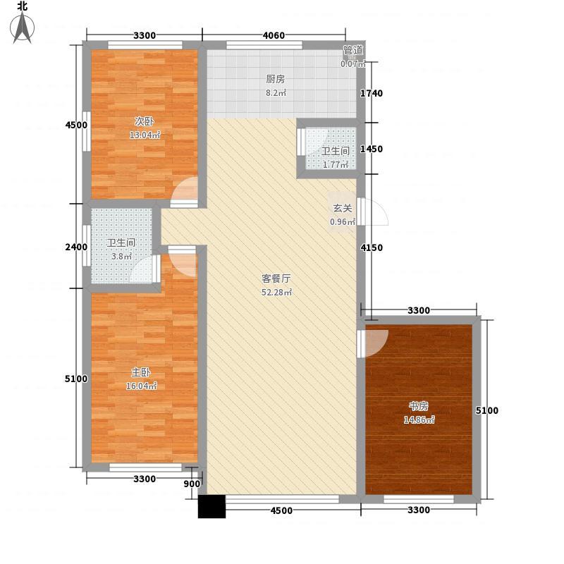 汇景星城141.00㎡1户型3室2厅2卫