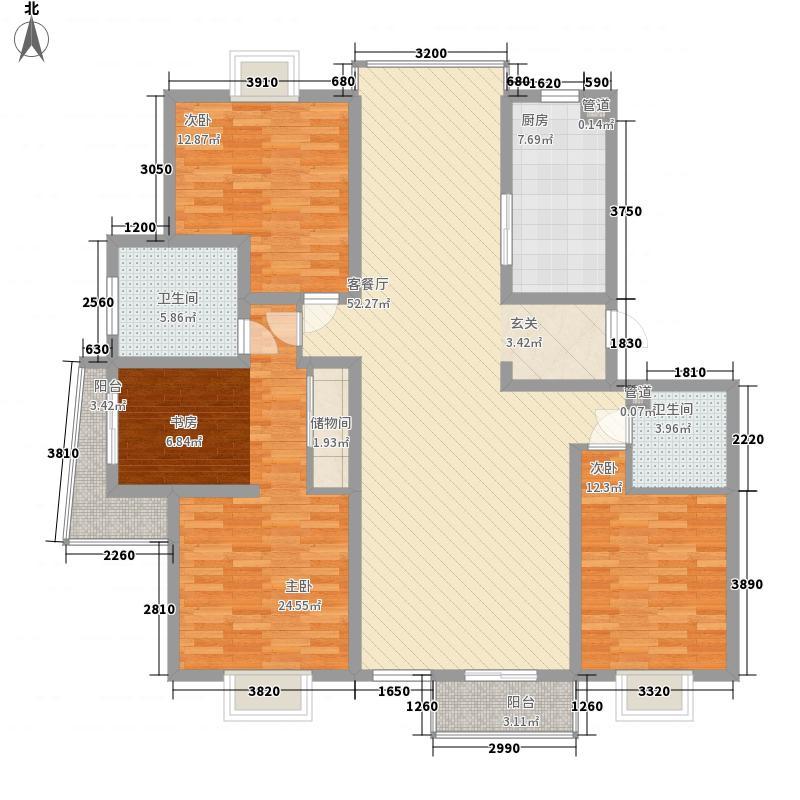 蓝水假期165.71㎡8户型3室2厅2卫