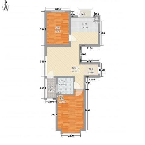 圣罗伦斯2室1厅1卫0厨66.14㎡户型图