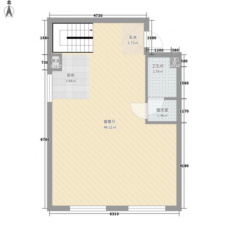 圣罗伦斯75.00㎡E1层户型3室2厅2卫