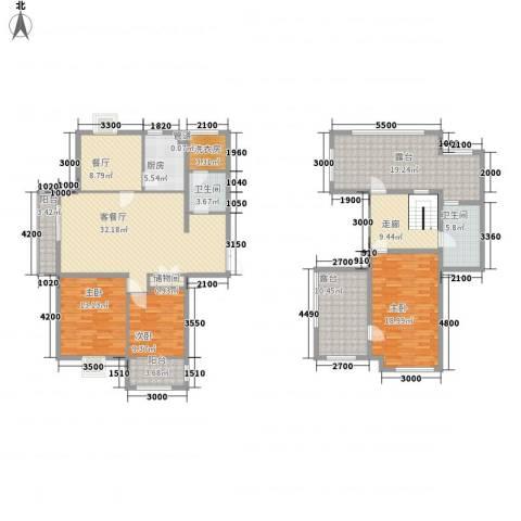 映象西班牙3室2厅2卫1厨164.00㎡户型图
