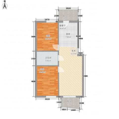 聚源花园2室1厅1卫0厨83.00㎡户型图