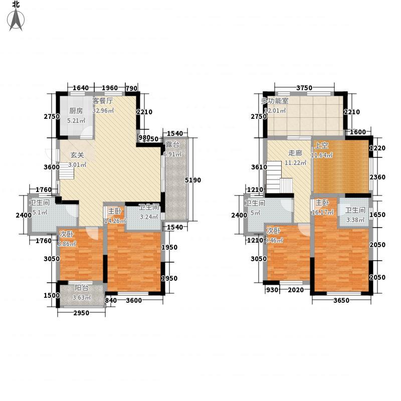 翰林世家161.80㎡3期1批次8栋B1跃户型5室2厅4卫