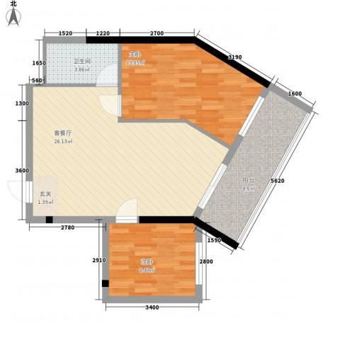 合景・月亮湾2室1厅1卫0厨60.07㎡户型图