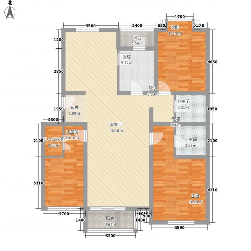 绿苑小区1-1户型3室2厅1卫1厨