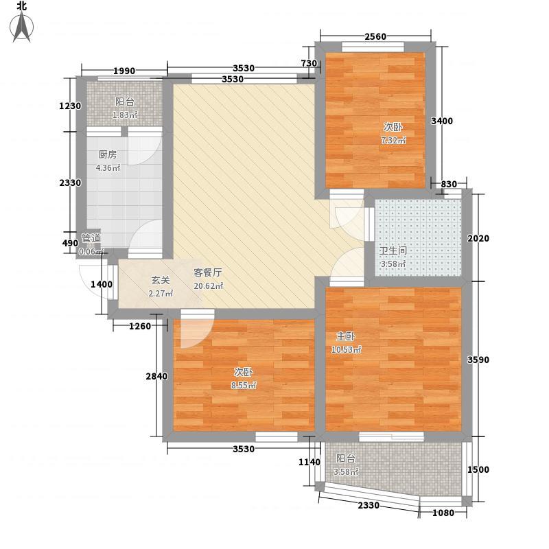 和家园2008324163215304户型3室2厅1卫1厨