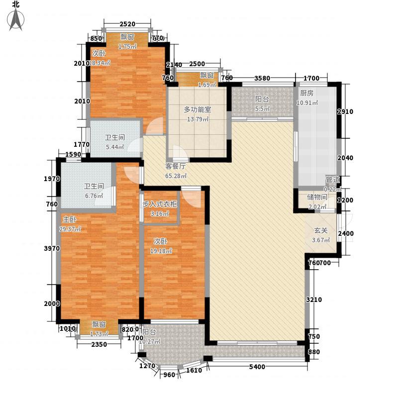 河畔新苑268.00㎡户型5室