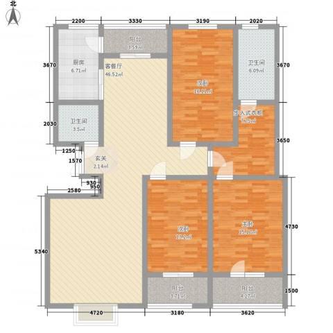港澳花园3室1厅2卫1厨183.00㎡户型图