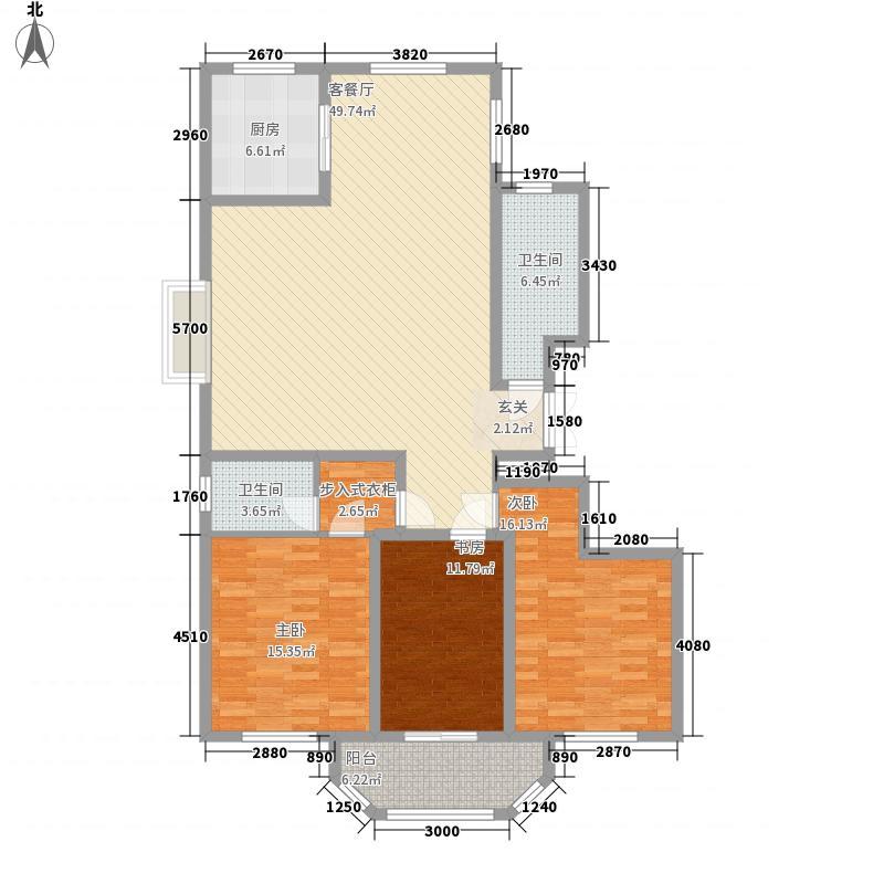 港澳花园168.00㎡L户型3室2厅2卫