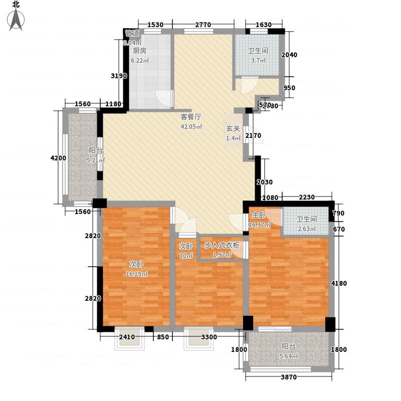 中央华府143.00㎡A5、A8、A9户型3室2厅2卫1厨